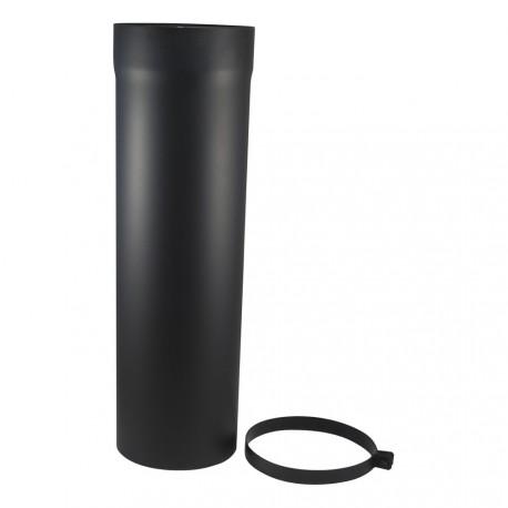 Tuyau coulissant acier 2mm noir