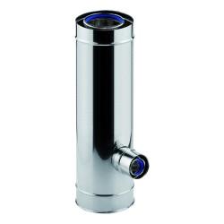 Té 90° réduit à 80/125 1000mm concentrique 3CE