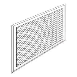 Kit grille de ventilation pour caisson