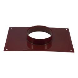 Plaque plafond émail rouge rubis