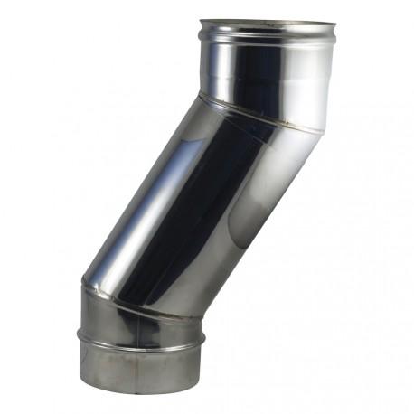 Coude téléscopique 30° à secteurs inox 304