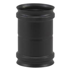 Raccord poêle à pellets noir mat