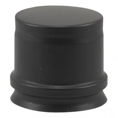 Tampon poêle à pellets noir mat