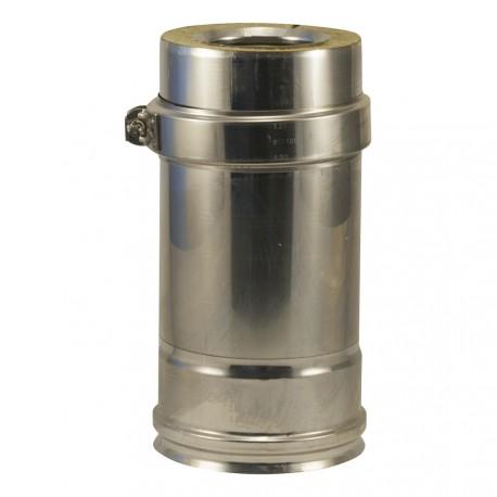 Tuyau coulissant inox 316 double paroi pour poêle à pellets