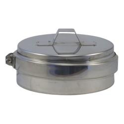Tampon inox 316 double paroi pour poêle à pellets