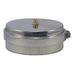 Purge inox 316 double paroi pour poêle à pellets